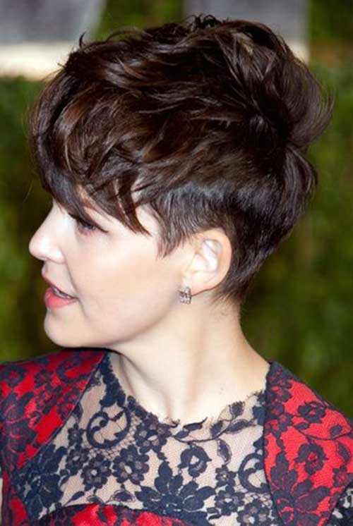 Ginnifer Goodwin Messy Pixie Hair