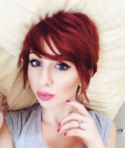 Red Hair Color Ideas for Pixie Cuts