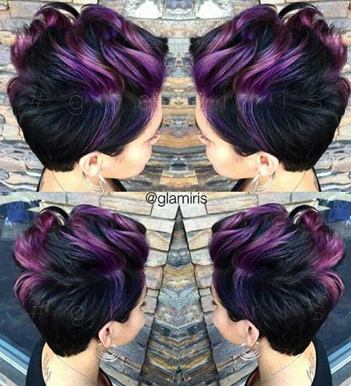 Highlighted Pixie Hair Color