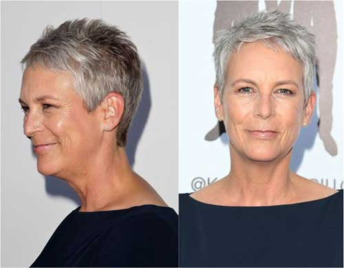 Jamie Lee Curtis Pixie Hair