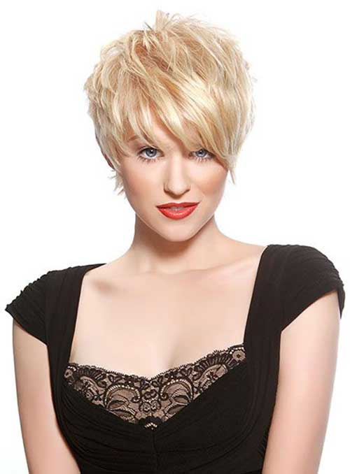 Layered Blonde Pixie Hairstyles