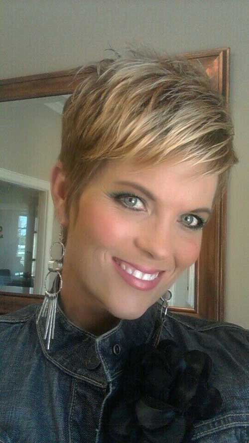 Layered Blonde Pixie Cuts 2014