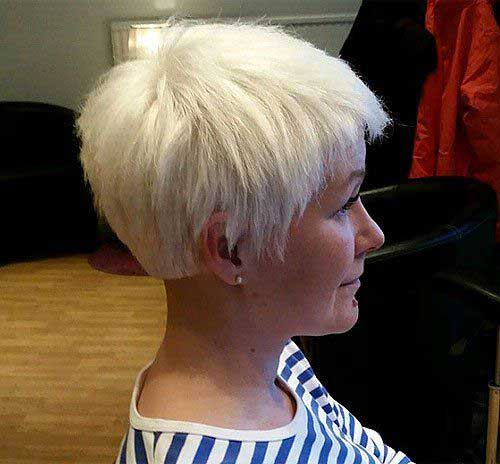 Light Blonde Pixie Hairstyles