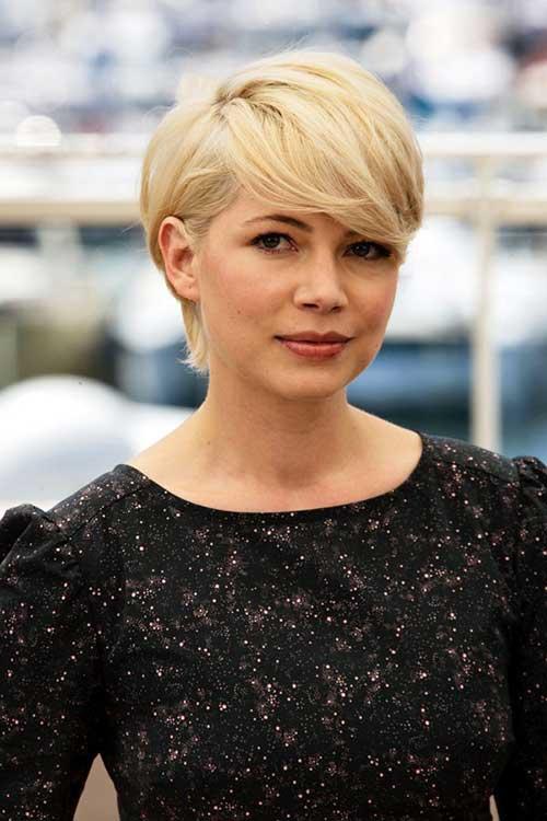 Long Blonde Pixie Cut Look