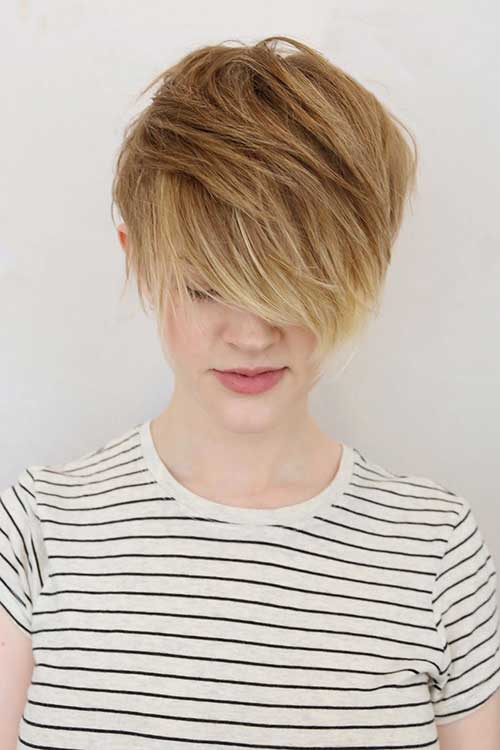 Highlighted Long Pixie Cuts