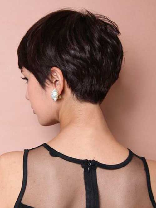 Modern Pixie Cut Back View Look
