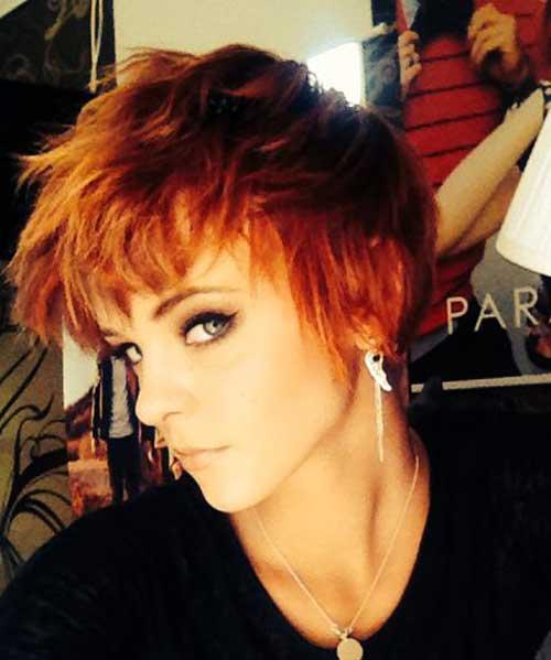 Orange Pixie Hair Cut for Girls