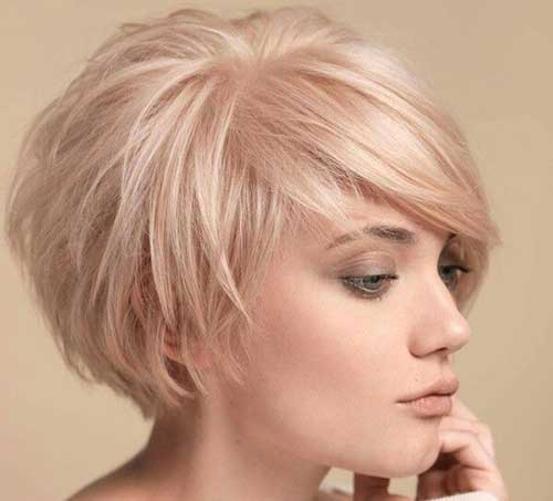 Pink Blonde Pixie Hairstyles