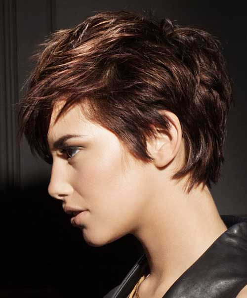 Pixie Cut Brown Hair