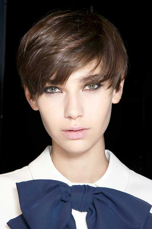 Best Pixie Cut Brunette