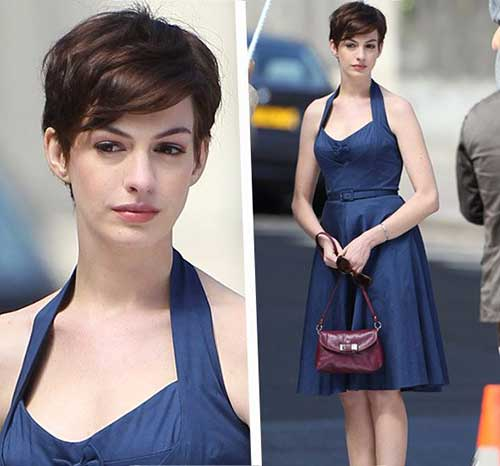 Chic Pixie Haircut Anne Hathaway