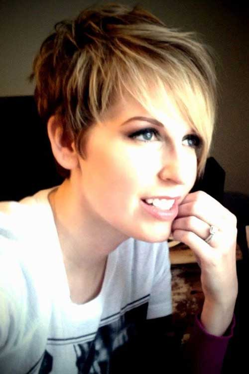 Best Pixie Haircut with Long Bangs
