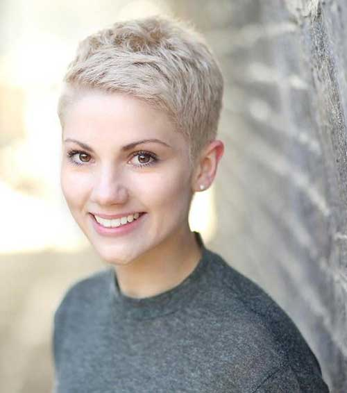 Platinum Blonde Sassy Pixie Hair Cuts