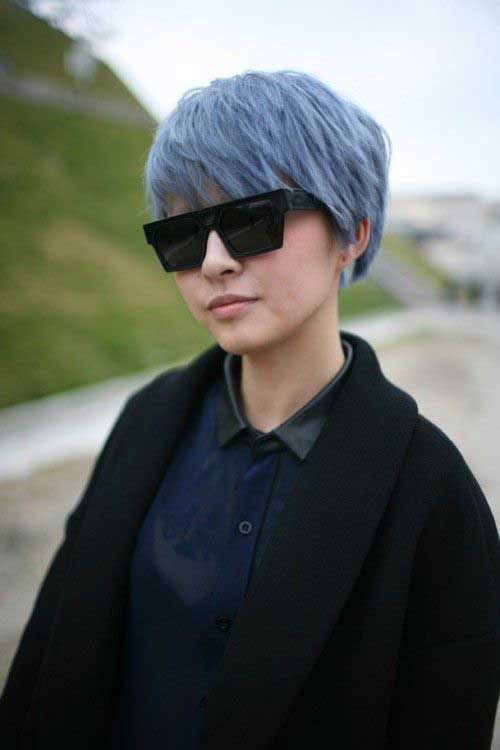 Punk Blue Pixie Hair Cuts