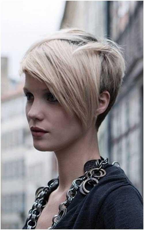 Punky Asymmetrical Pixie Haircut
