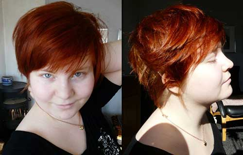 Red Pixie Haircut Round Face Pics