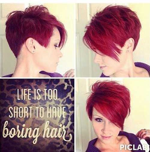 Red Pixie Haircut Styles