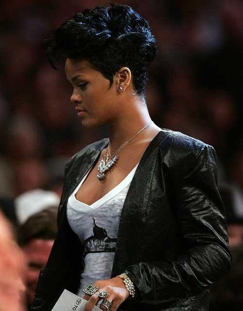 Rihanna Curly Pixie Cut Ideas