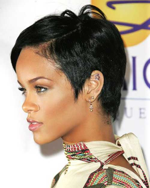 Rihanna Fine Pixie Cut Pictures