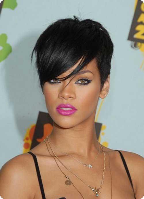 Rihanna Straight Hair Pixie Cuts