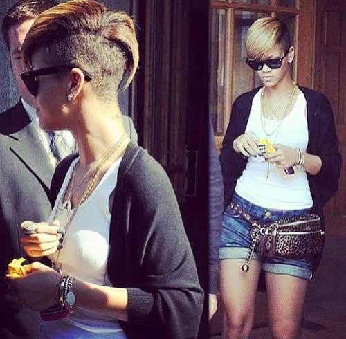 Rihanna Stylish Pixie Hair Cut