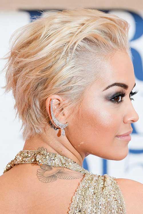 Rita Ora Pixie Hair