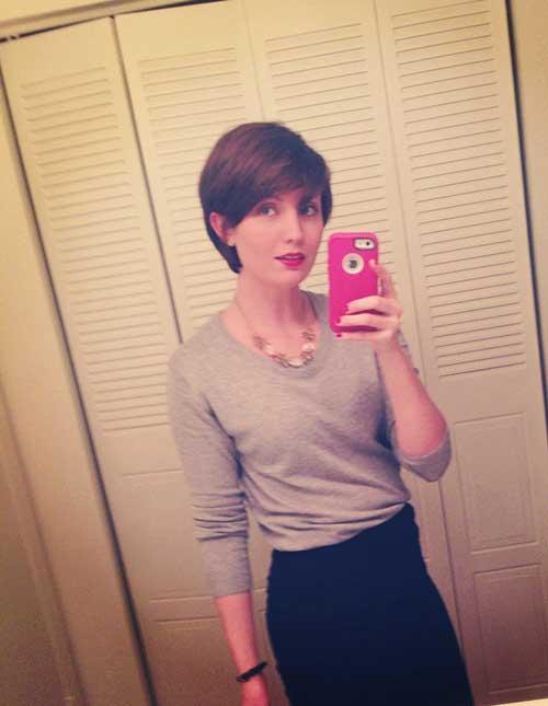 Sassy Brown Pixie Hair Cuts