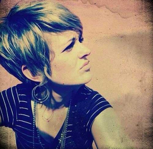 Shaggy Pixie Blonde Hair Cuts