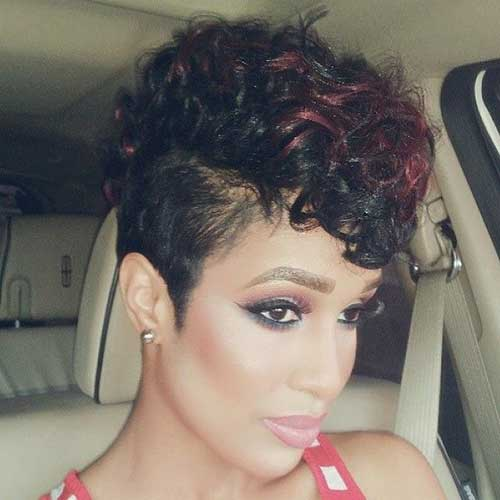Shaved Curly Pixie Cuts