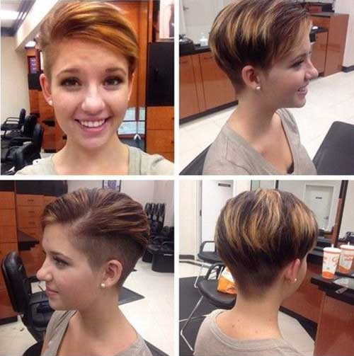 Cool Shaved Pixie Haircut