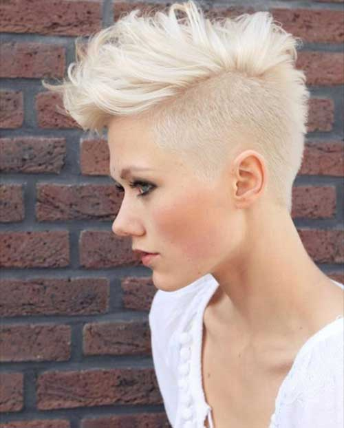 Shaved Blonde Pixie