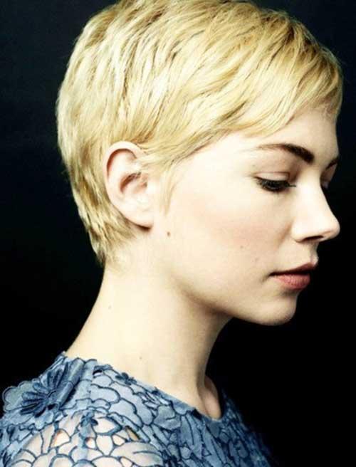 Michelle Williams Short Blonde Pixie Cut