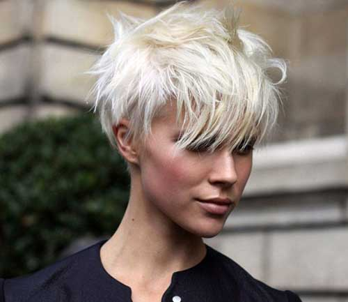 Short Pixie Cut with Long Bangs Ideas