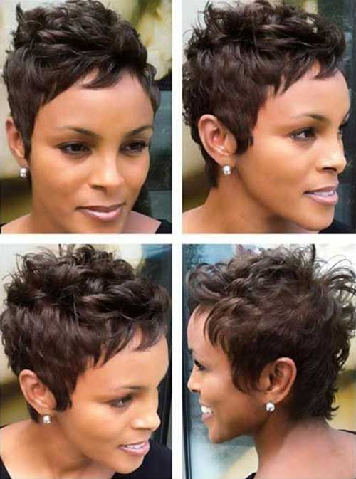 Spiked Short Curly Pixie Cuts