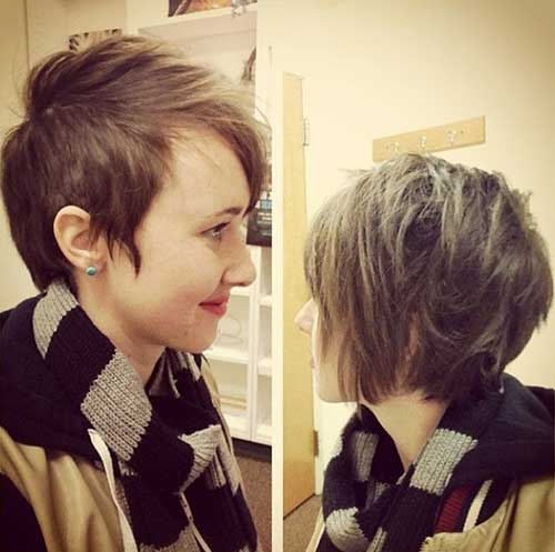 Straight Punk Pixie Hair Cuts