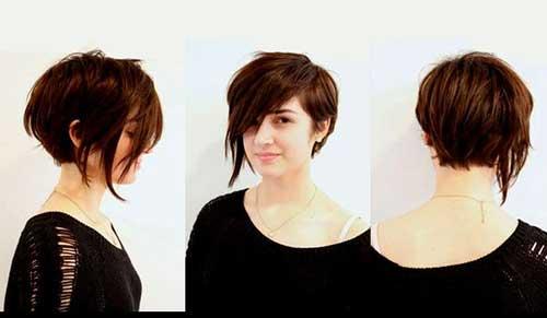 Stylish Asymmetrical Pixie Bob Haircut