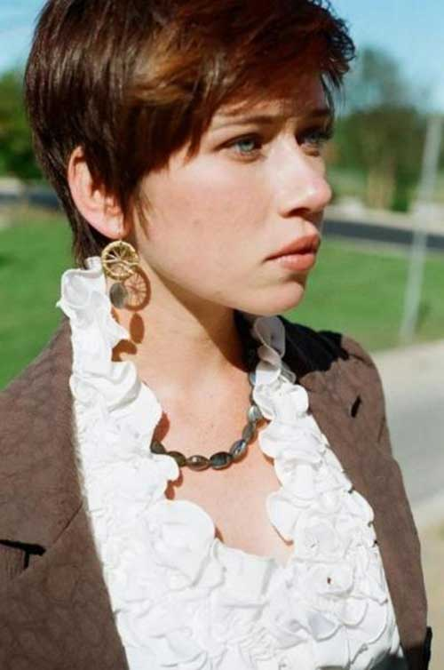 Stylish Brunette Pixie Cuts