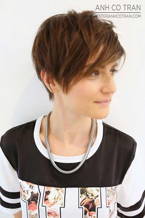 Trendy Asymmetrical Pixie Haircut