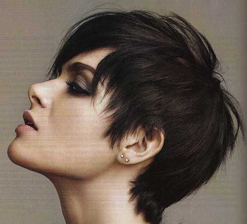 Trendy Dark Brown Pixie Cuts