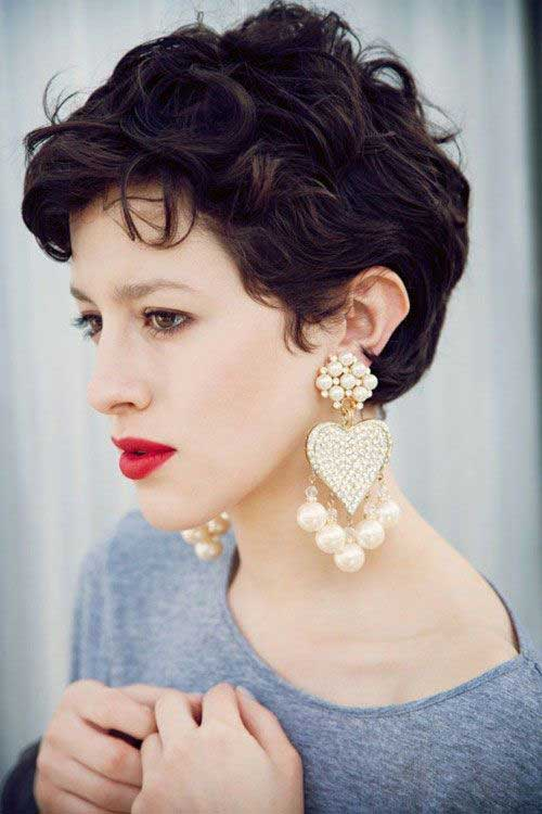 Trendy Short Curly Pixie Cuts