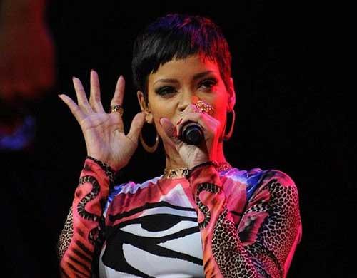 Trendy Short Pixie Cut Rihanna