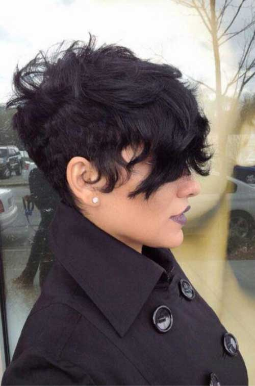 Undercut Pixie Wavy Hairstyles