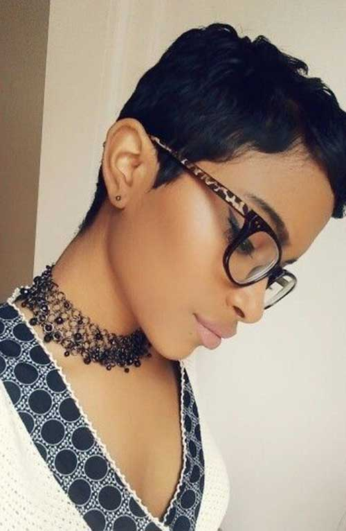 Very Short Dark Pixie Cuts