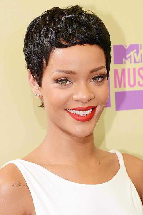 Rihanna Very Short Pixie Cut