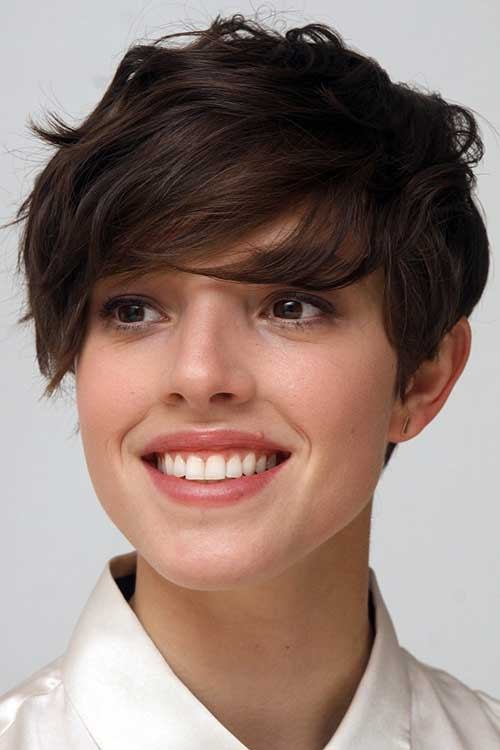 Wavy Dark Hair Pixie Styles