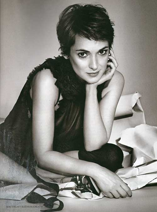 Winona Ryder Pixie Hair Styles