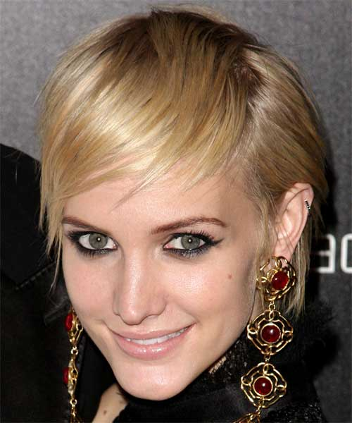 Ashlee Simpson Layered Pixie Cut