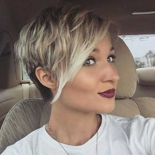 Blonde Balyage Pixie Cut Colors