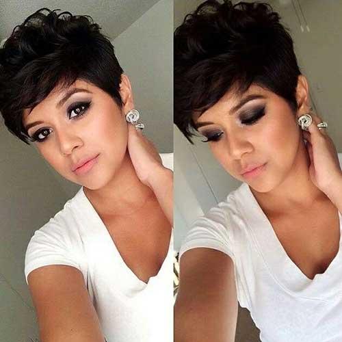 GirlsBrown Hair Pixie Styles
