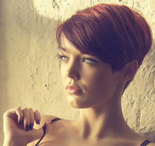 Cute Long Style Pixie Haircut